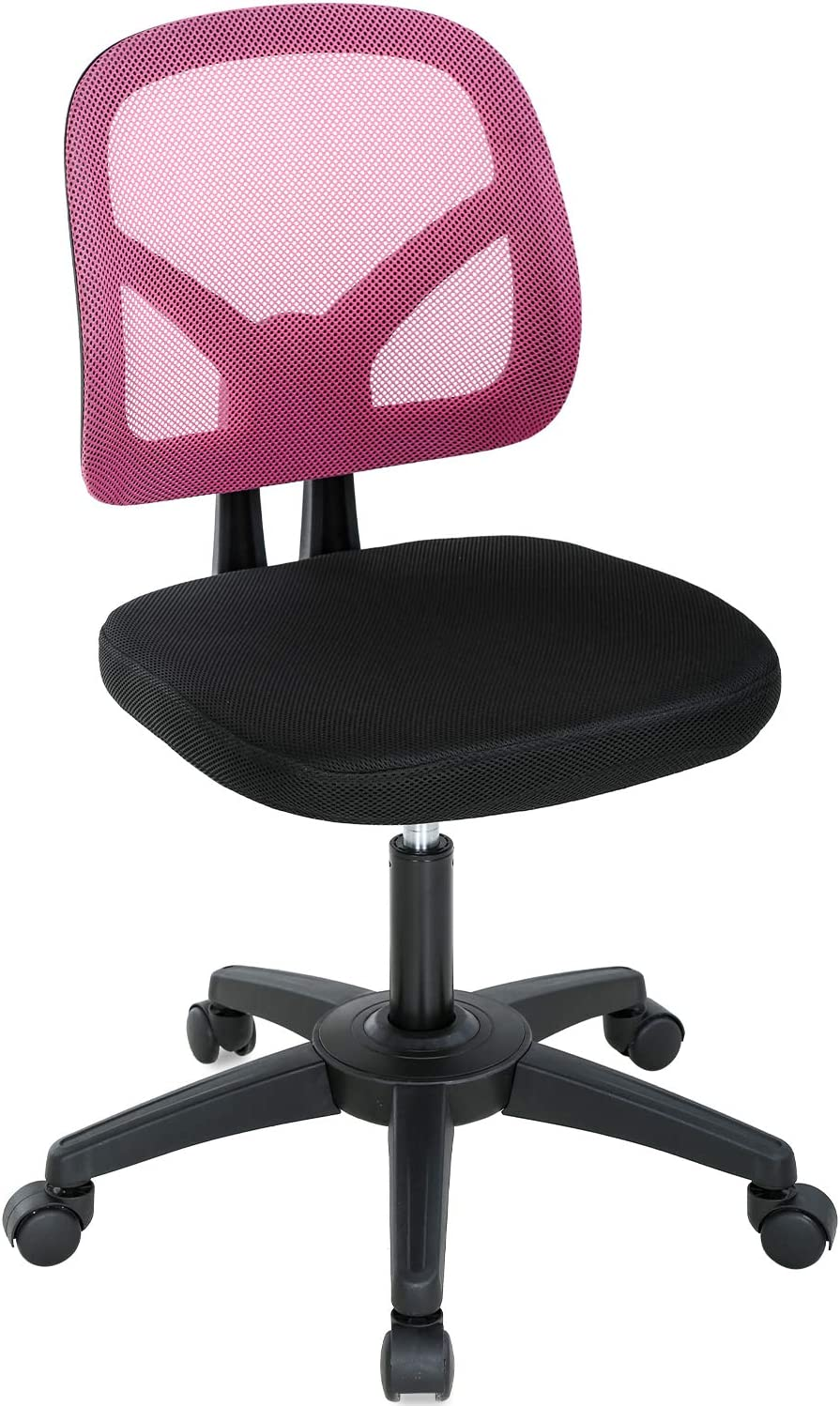 Home Office Chair Adjustable Desk Chair Mesh Ergonomic Chair with Lumbar Support Cute Computer Chair Swivel Rolling Task Chair for Girls(Pink)