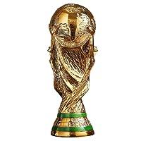 Qiulv 2018 Trofeo Della Coppa Del Mondo Statua Resina Vivido Figurina Calcio Replica Fans Souvenir Decorazione Regalo Mestiere Anniversario Scultura Figurina Casa Arredamento Accessori