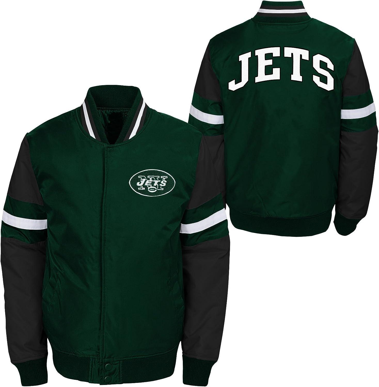 18 Youth X-Large NFL New York Jets Youth Boys Legendary Color Blocked Varsity Jacket Hunter Green