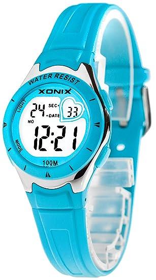 De las mujeres/niñas XONIX Reloj, corazón en pantalla, Digital, cuarzo, sumergible 100 m, xokjd75h3/2: Amazon.es: Relojes