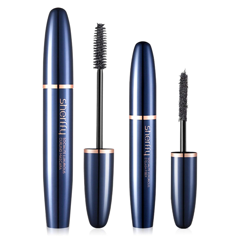 72cf4c76a2e Amazon.com : Vassoul 4D Silk Fiber Lash Mascara Sets - Waterproof Makeup Eyelash  Extension, Sweat proof Long Curling Thick, Long-Lasting, Dramatic Extension  ...