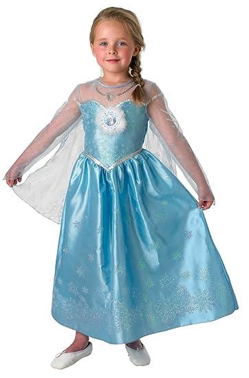 Disney Elsa Frozen Eiskönigin Deluxe Kostüm Kinder Karneval ...