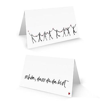 25 Herzmensch Tischkarten Namensschilder Text Schon Dass Du Da Bist