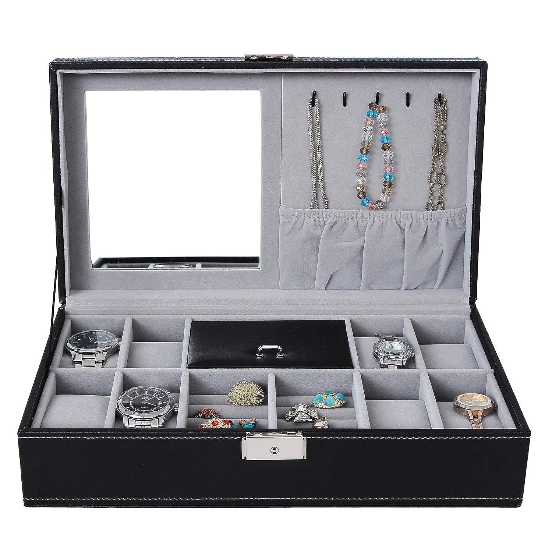 Jewelry & Watches Grey Wrist Watch Presentation Display Case Tray Shop 1 X Luxury Quality Blue