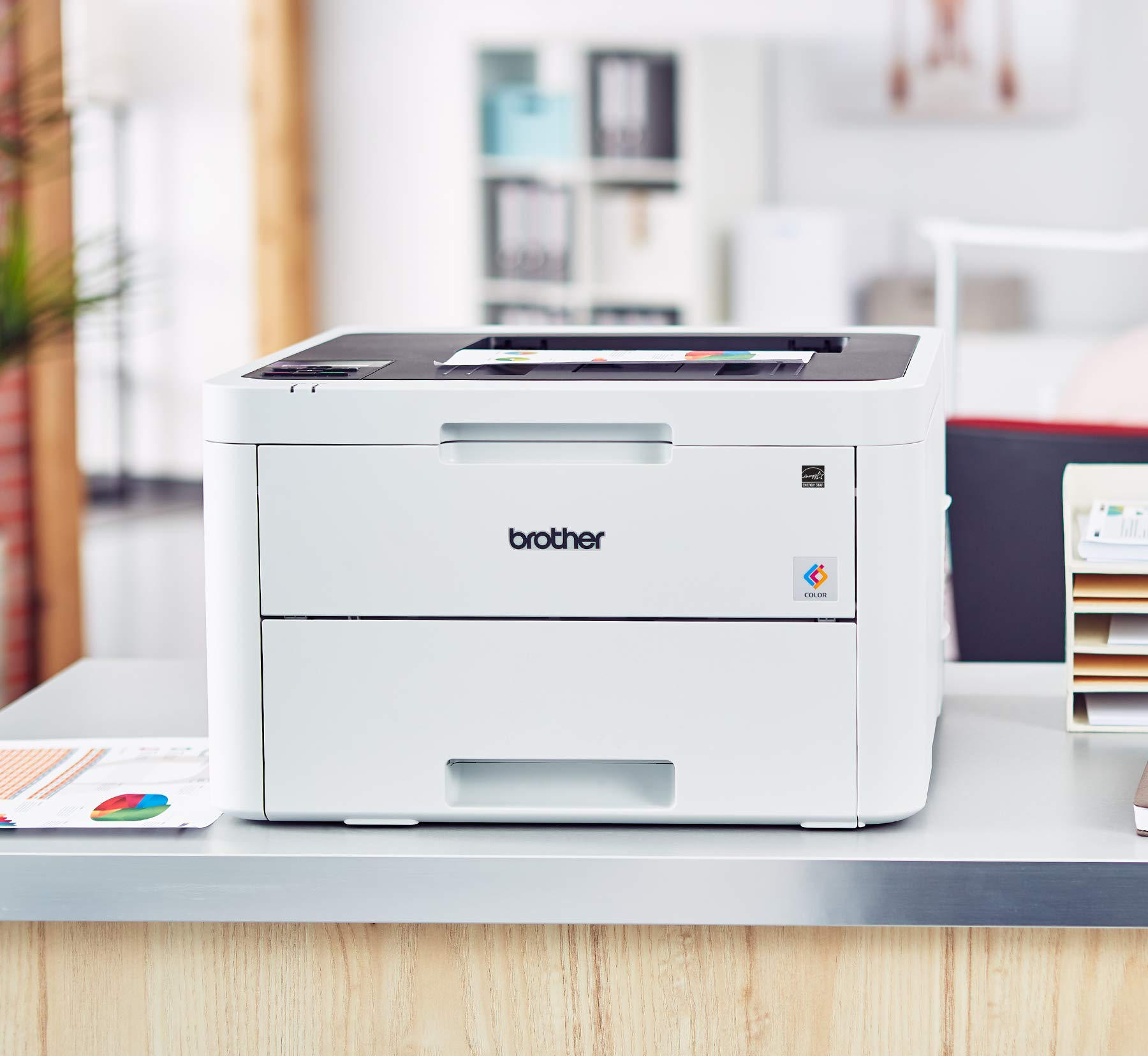 Brother HL-L3230CDW Compact Digital Color Printer Providing Laser Printer Quality Results with Wireless Printing and Duplex Printing, Amazon Dash Replenishment Enabled by Brother (Image #2)