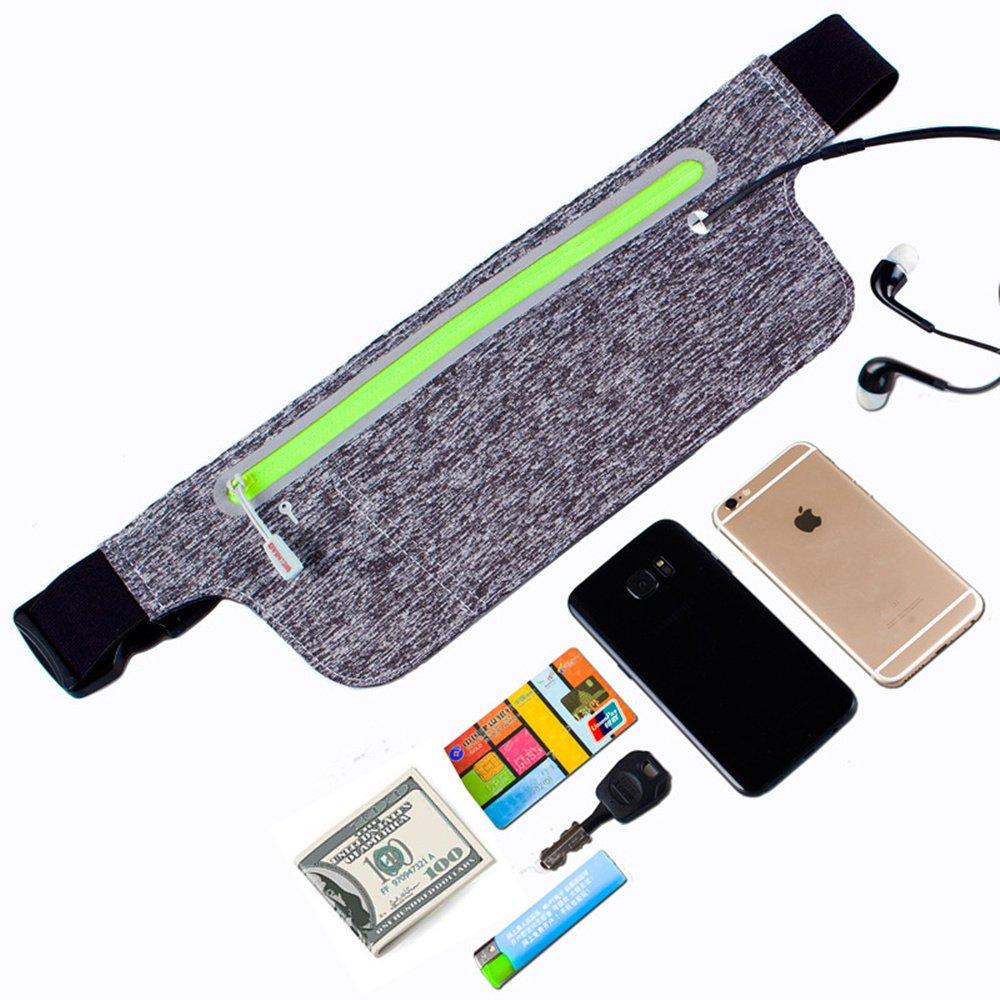 WJZXTEK Running Belt, Ultra Light Bounce Free Waist Pouch Fitness Workout Belt Sport Waist Pack Exercise Waist Bag for Apple iPhone 8 X 7 6+ 5s Samsung in Running Gym Marathon Cycling Sports (Pink)