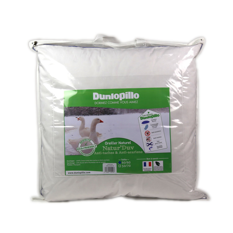 Dunlopillo Natur Duv Oreiller Blanc 60 X 60 Cm Amazon Fr Cuisine