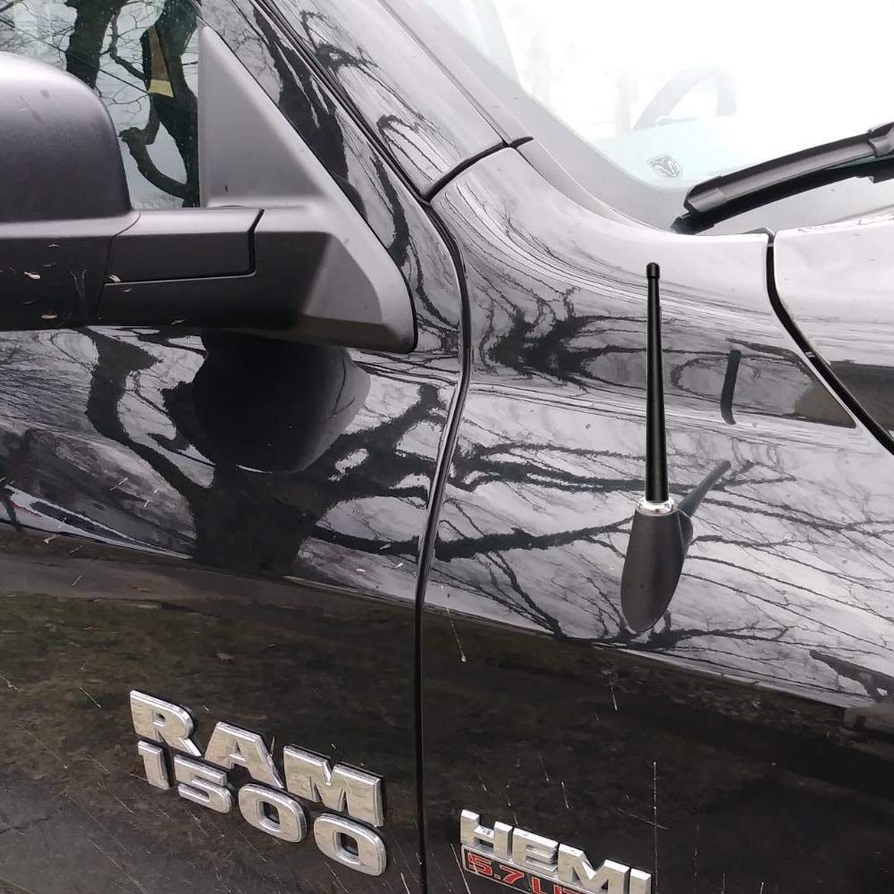 Ram 2500 Ram 3500 Short Small Stubby Aluminum VOFONO Compatible with 2009 to 2019 Dodge Ram 1500 Antenna