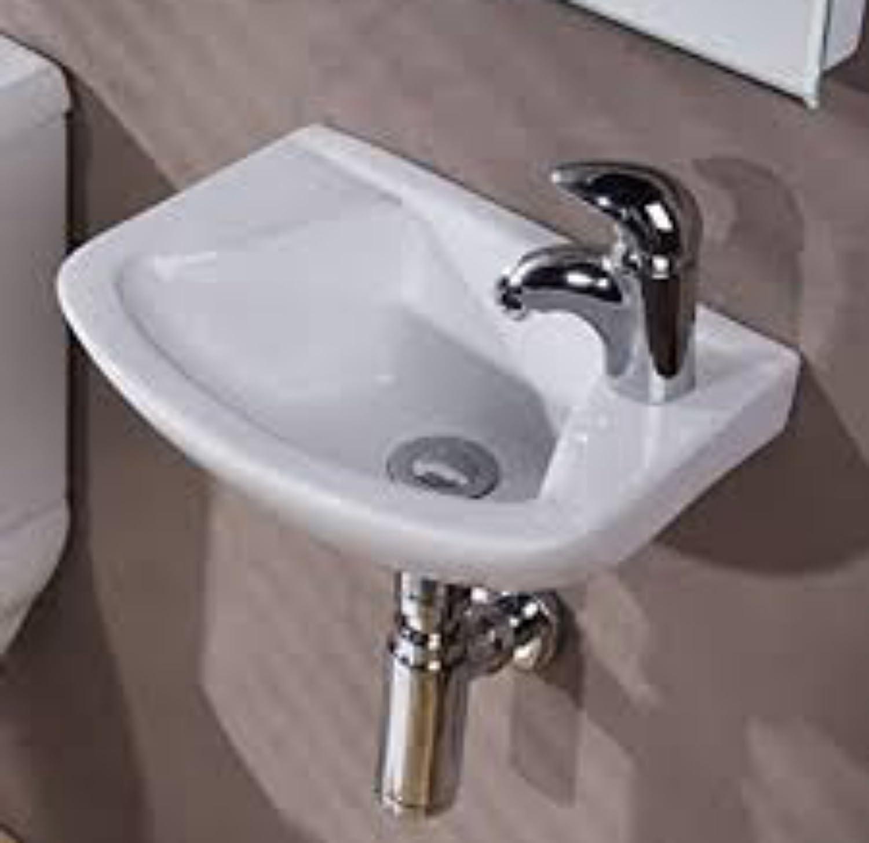 Bagno moderno Compact Hand–lavabo a parete, 1foro rubinetto, bagno e guardaroba, in ceramica Eurocrescent
