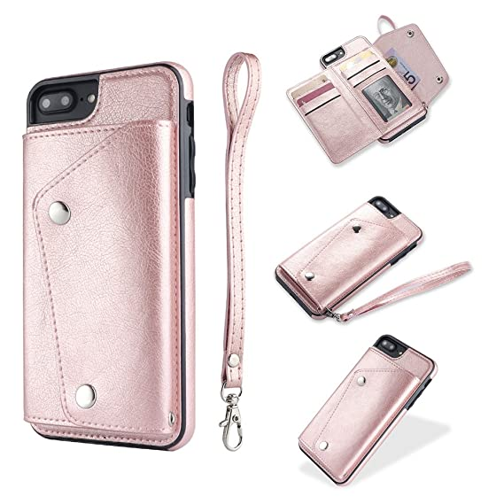 check out 64903 ff030 iPhone 8 Plus Case, iPhone 8 Plus Card Holder Case,Premium PU Folio Flip  iPhone 7 Plus Wallet Case with Credit Card Slots Shock-Absorbing Protective  ...