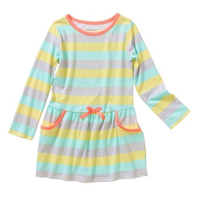 513d0e3267b3 Amazon.com  Healthtex Toddler Girl Long Sleeve Knit Dress  Clothing