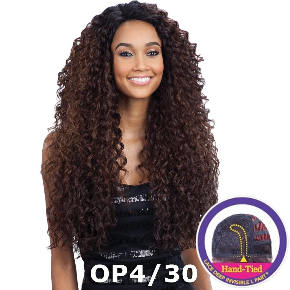 FreeTress Equal Lace Deep Invisible ''L'' Part Lace Front Wig - KITRON (1 Jet Black)