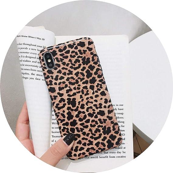 53ddd1565b4c Amazon.com  Fashion Leopard Print Phone Case for iPhone Xs Max XR X ...