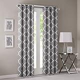 "Madison Park Saratoga Single Window Curtain - Grey - 84"" Panel - 1 Panel Only"