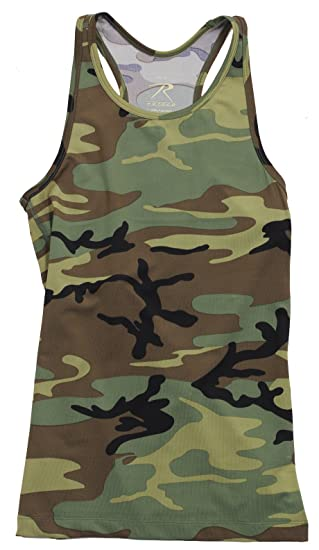 8941dff4d84 Amazon.com: Rothco Womens Camo Workout Performance Tank Top: Sports ...