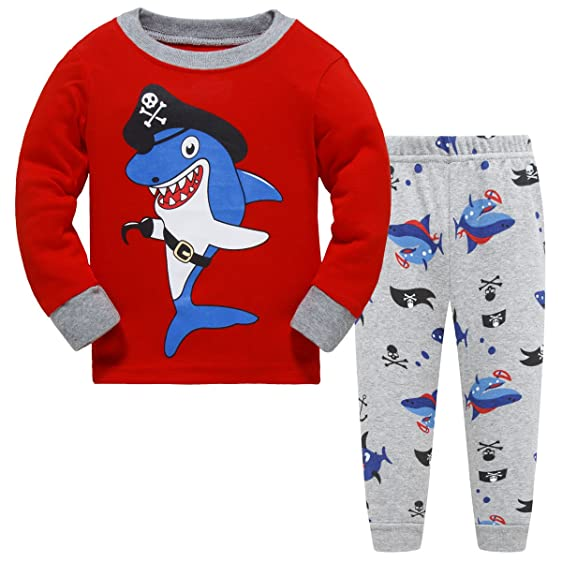 com hugbug boys shark pajamas set t clothing hugbug boys shark pajamas set 2 7t 2 years red