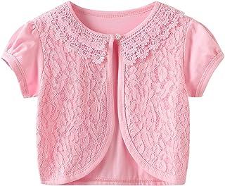 CHENXIN Girls Shrug Knit Long/Short Sleeve Lace Bolero Cardigan Shrug