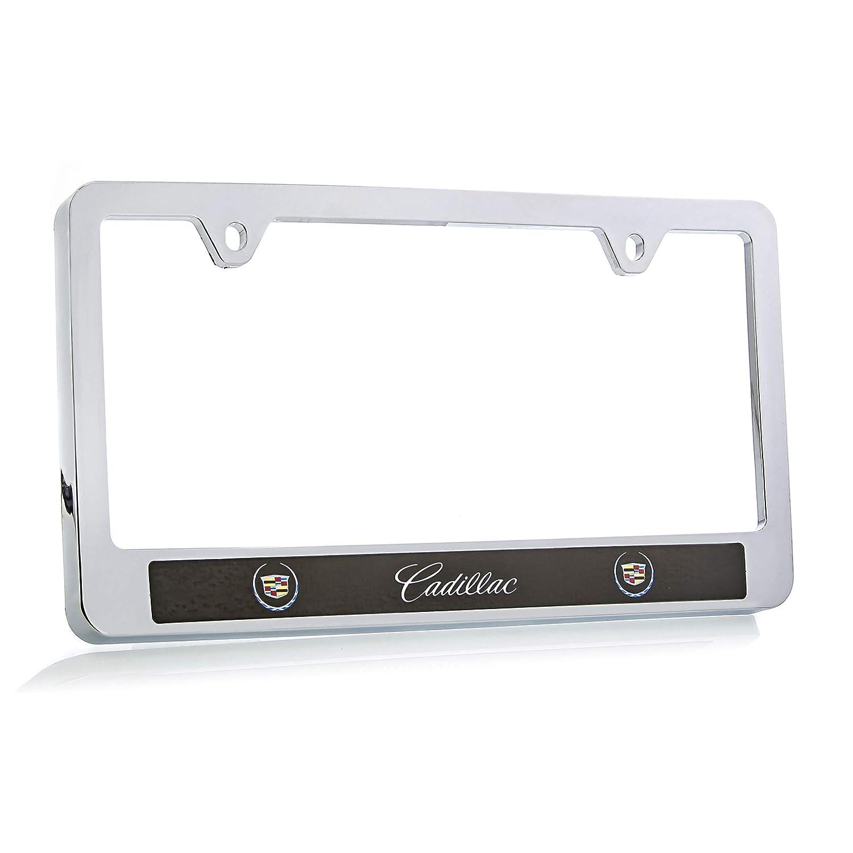 Cadillac 2000-2013 Logo ABS Plastic Chrome Finish License Plate Frame