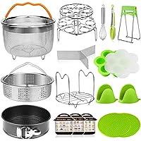 18 pieces Pressure Cooker Accessories Set Compatible with Instant Pot 6,8 Qt - 2 Steamer Baskets, Springform Pan…