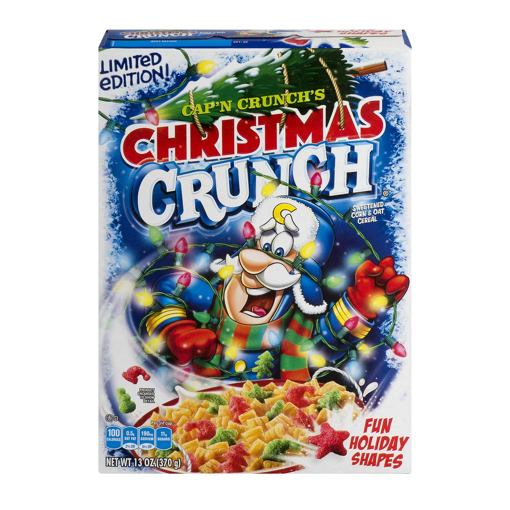 Christmas Crunch Cereal.Amazon Com Cap N Crunch S Christmas Crunch Cereal Limited