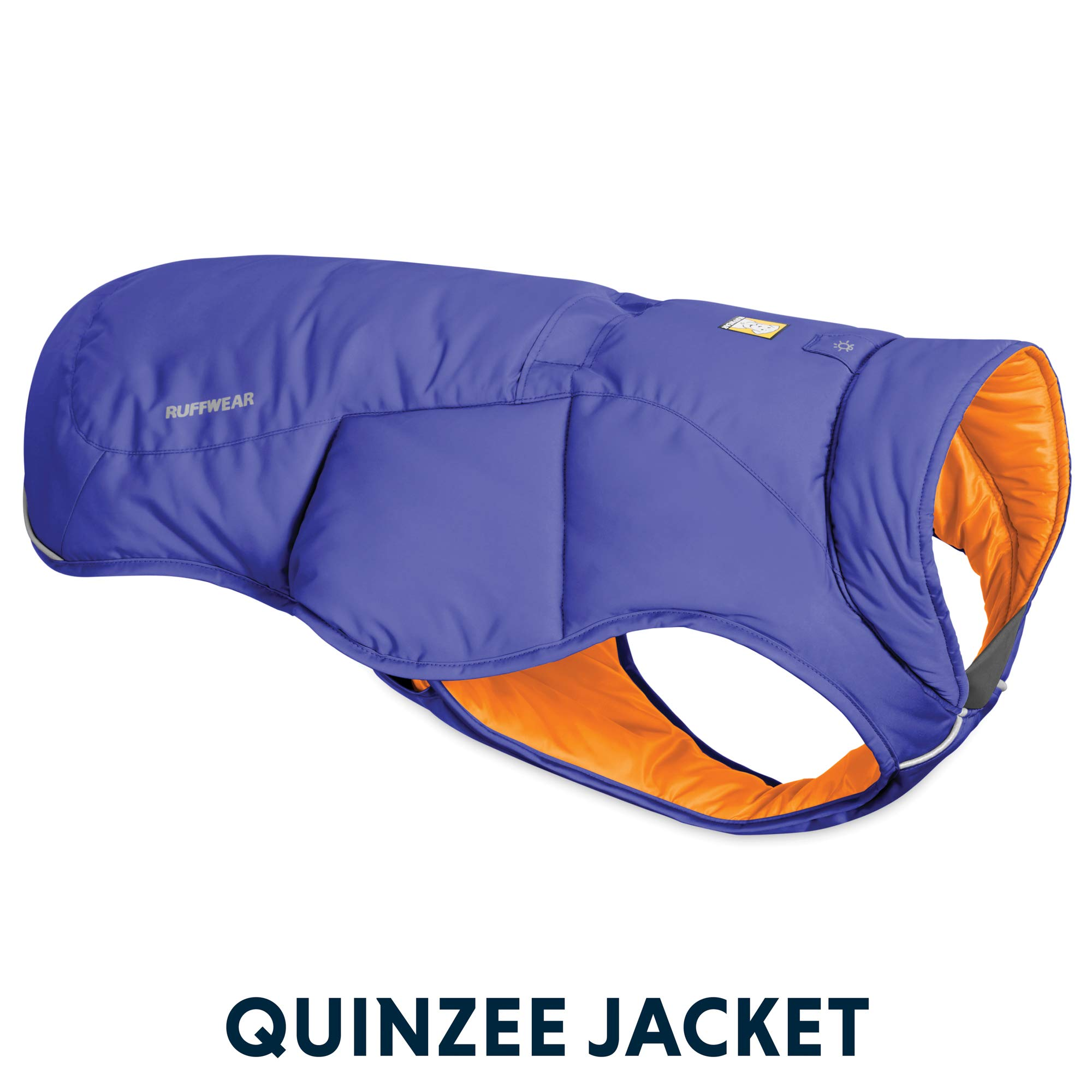 RUFFWEAR - Quinzee Insulated, Water Resistant Jacket for Dogs with Stuff Sack, Huckleberry Blue, Medium