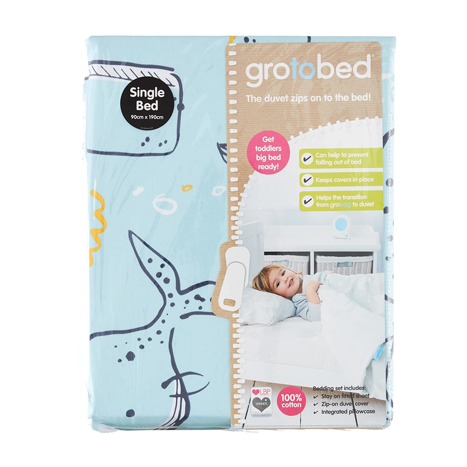 The Gro Company Ollie The Owl Gro to Bed Toddler Bedding Set Cot Bed