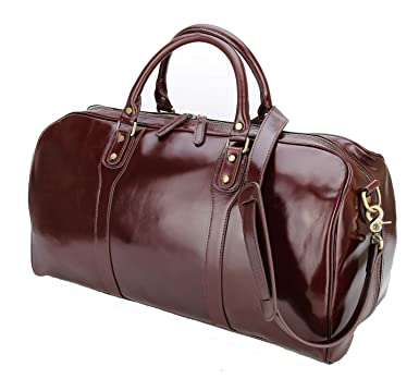 Image Unavailable. Image not available for. Color  Polare 21 quot  Real Italian  Leather Weekender Travel Overnight Luggage Duffel Bag 35d801f9eea72