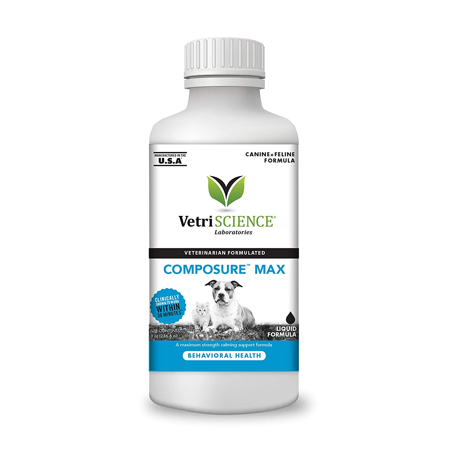VetriScience Laboratories- Composure, Calming Behavior Support Supplement  for Dogs Dealing with Separation Stress, Noise, Thunder and Situational