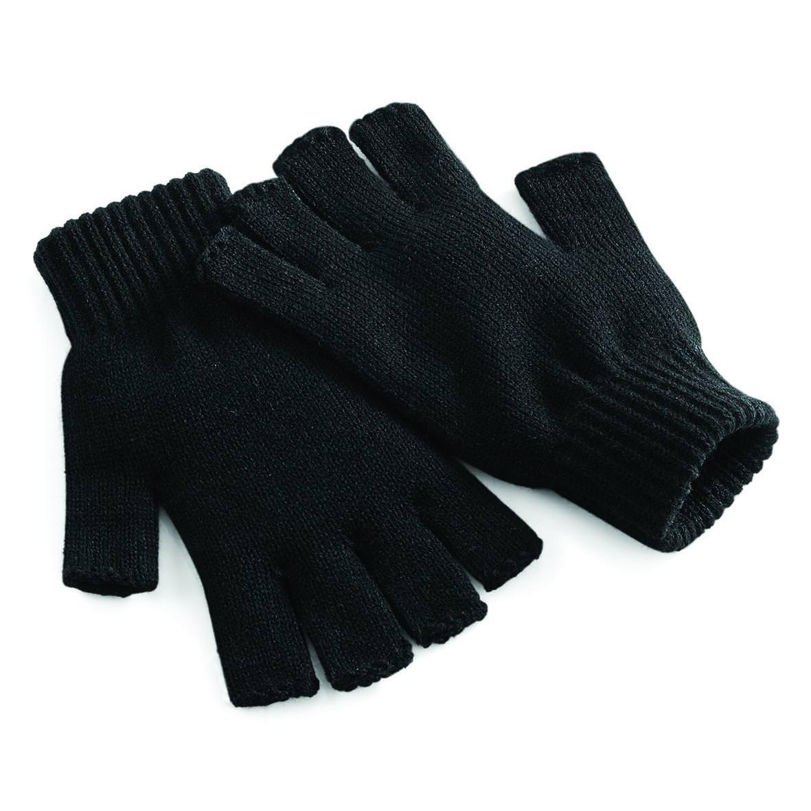 Beechfield Fingerless Gloves - Charcoal - LXL