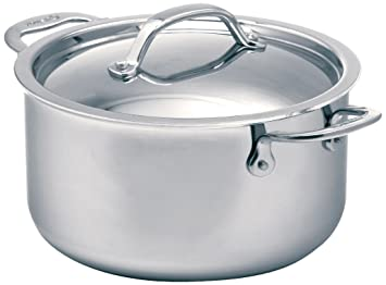 Cuisinox Super Elite cubierto horno holandés, 2.8-liter, Plata