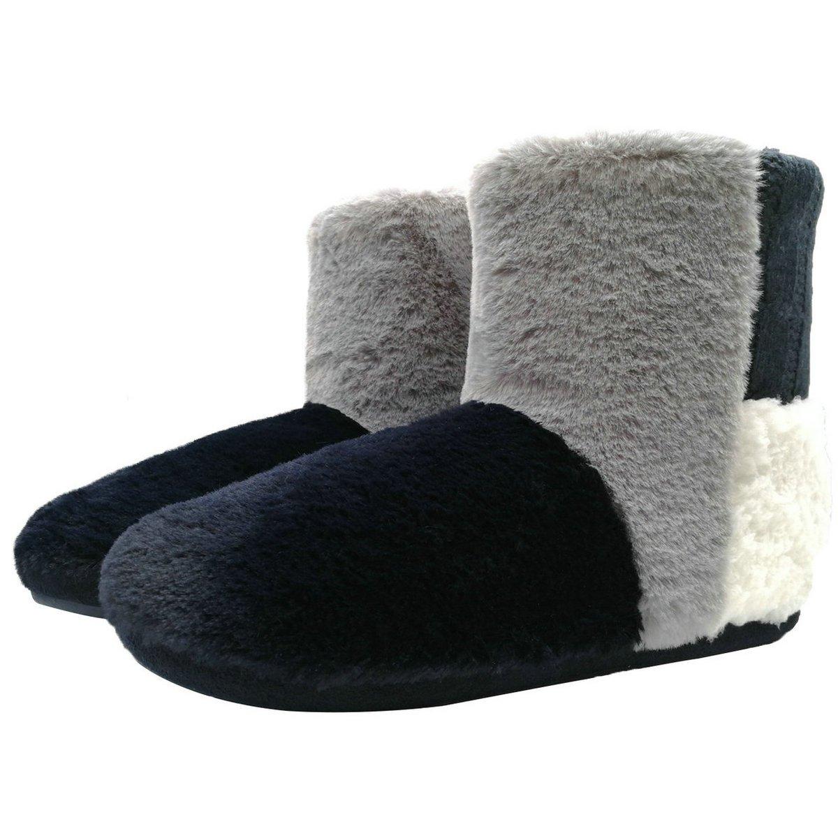 ONCAI Women's Elegant Indoor Slipper Boots (6.5-7 B(M), Navy)