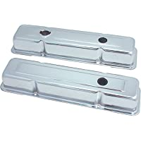 Spectre Performance 5258 Chrome 3-Hole Short Valve Cover for Small Block Chevy