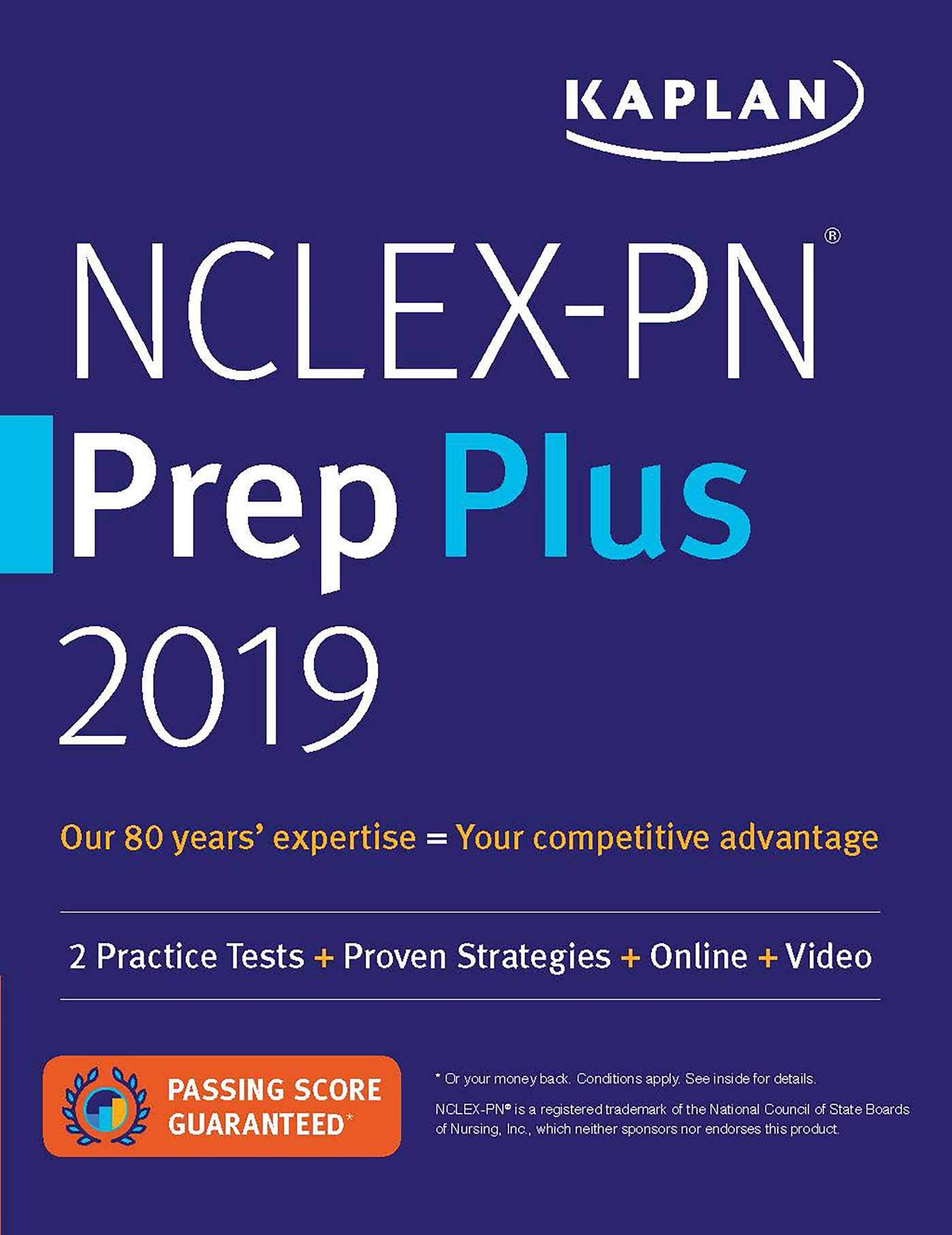 NCLEX-PN Prep Plus 2019: 2 Practice Tests