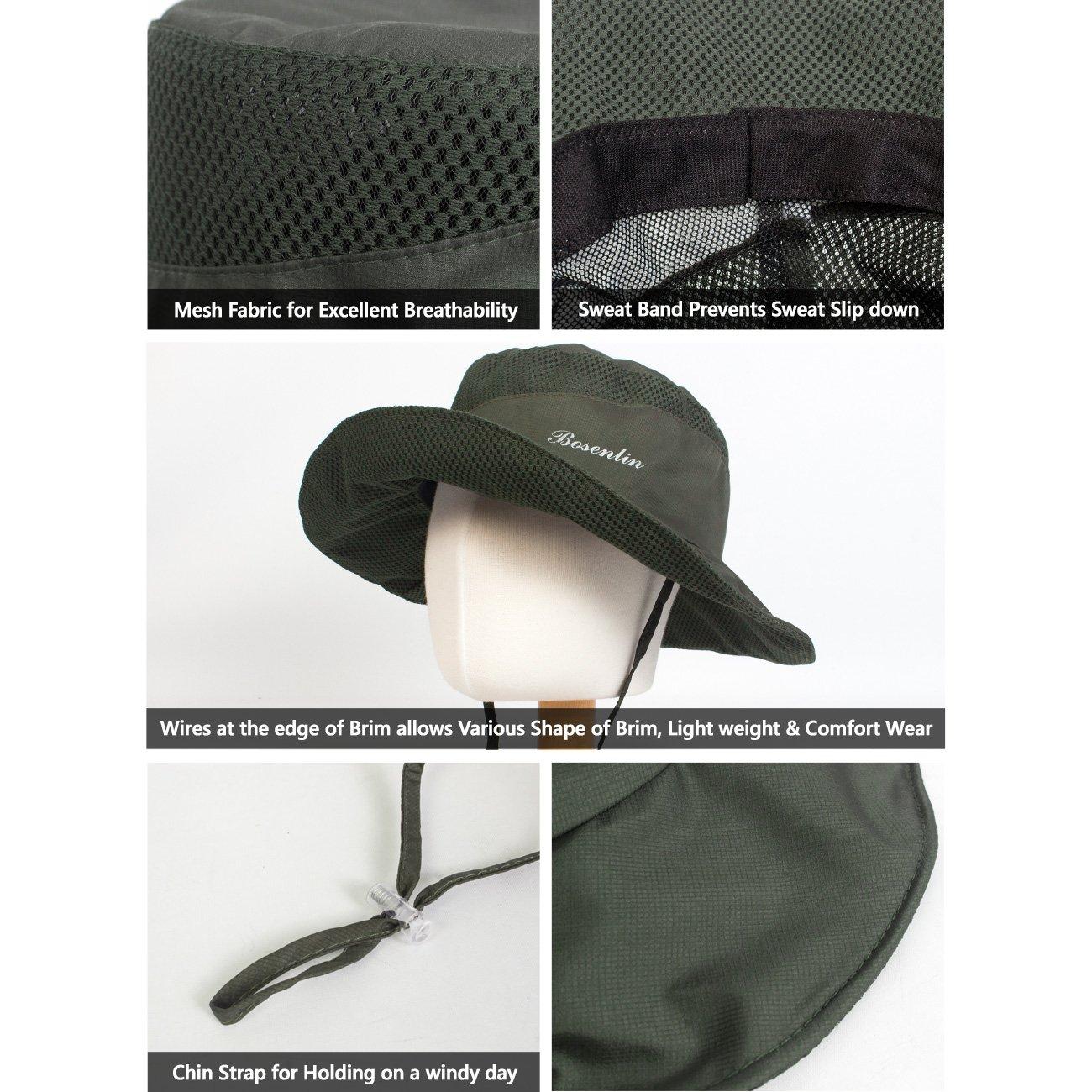 CapGear Mens Outdoor Mesh Cool Hiking Camping Fishing Sun Bucket Hat