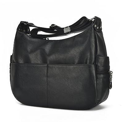 5bf8329c385c Large Crossbody Bag Leparvi Purse Lady Double Zipper Shoulder Bag Hobo Style  Women Tote HandBag For