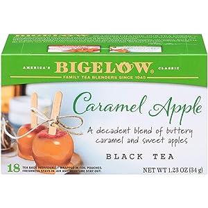 Bigelow Caramel Apple Black Tea Bags, 18 Teabags (Pack of 6), Caffeinated Black Tea 108 Tea Bags Total