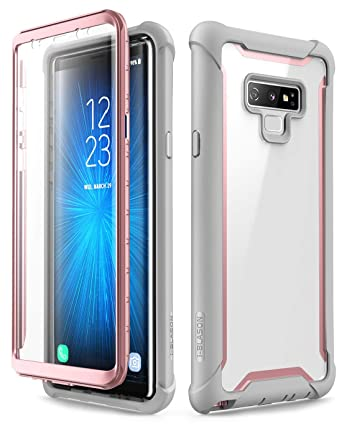 i-Blason Ares Designed for Galaxy Note 9 Case, Full-Body Rugged Clear Bumper Case with Built-in Screen Protector for Galaxy Note 9 2018 Release, Pink