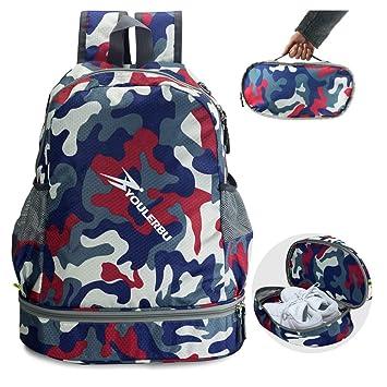 Youlerbu Sport Sporttasche Packbarer Rucksack Mit Schuhfach Wasserdichte Schwimmtasche Mit Nass Trockenfachern Fur Kinder Und Erwachsene