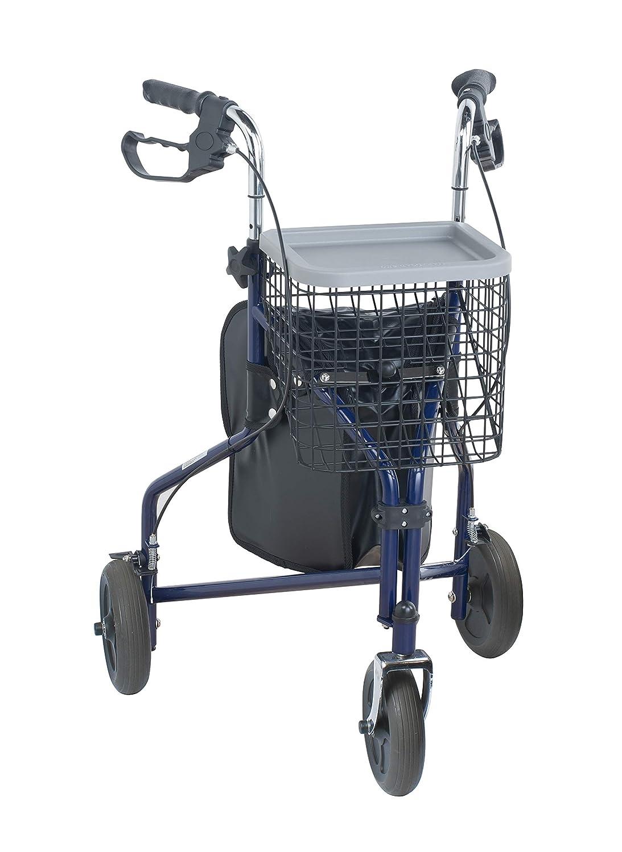 NRS Healthcare M85577 - Andador de 3 ruedas, con cesta y mochila ...