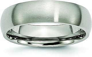 DIAMOND2DEAL uomo Titanium 6mm wedding Band anello per uomo taglia 15