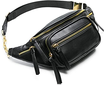 small leather purs belt bag brown fanny pack clutche handbag funny pack Leather waist bag women purse belt pack