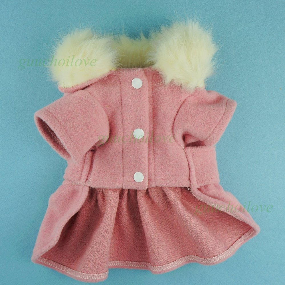 Fitwarm Noble Pink Woolen Pet Clothes for Dog Jackets Coat Dress, Small by Fitwarm (Image #5)
