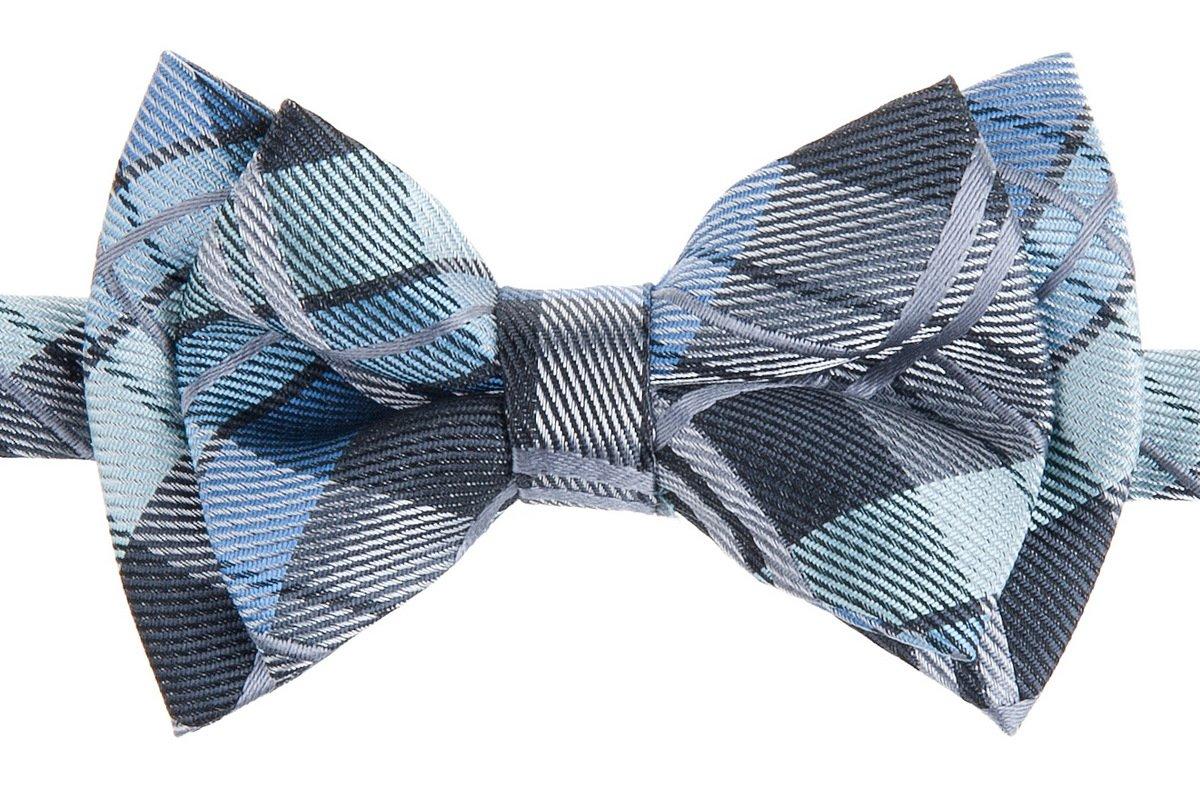 Retreez Elegant Tartan Plaid Check Woven Microfiber Pre-tied Boy's Bow Tie