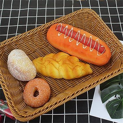 Pueri cesto de mimbre cesta con almacenamiento bandeja de fruta tissés con la mano de Pan