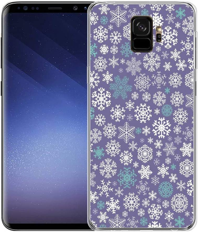 Amazon Com Snow Flakes Purple Background Samsung Galaxy S9 Plus Case Clear And Transparent Frame Uv Printing Phone Case For Samsung Galaxy S9 Plus Linghan