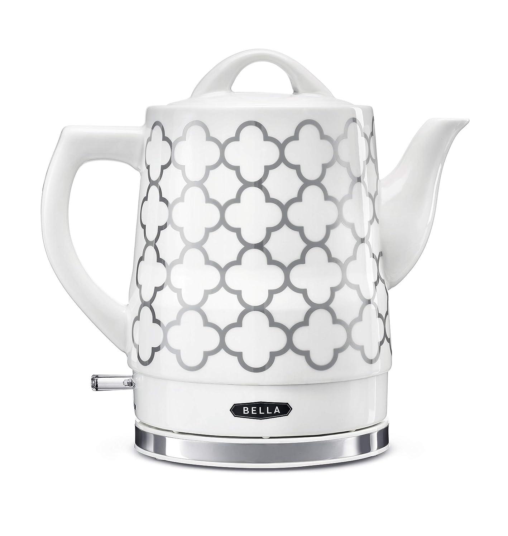 BELLA 14745 Electric Tea Kettle, 1.5 LITER, Silver Tile