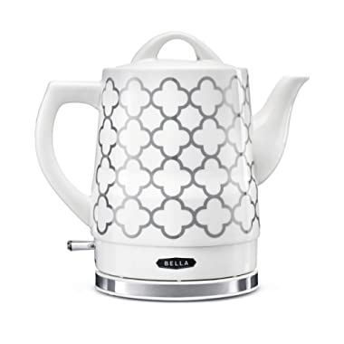 BELLA 14745 Electric Tea Kettle, 1.5 LITER, Silver Tile