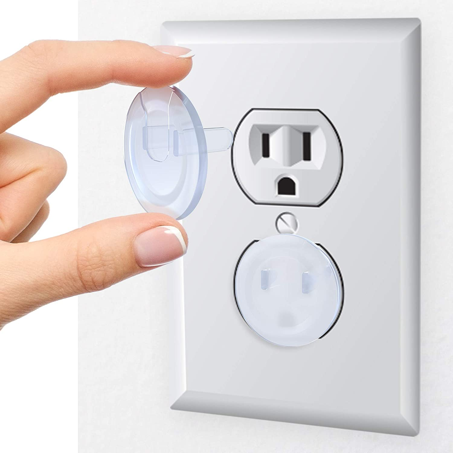 Skyla Homes - Clear Outlet Covers (36-Pack), Best Dielectric Plastic Plugs for Electrical Power Outlets - Baby Proofing Wall Socket Protectors, Child Proof Oulet Protector - Electricity Insulation