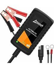 Ampeak 0.75A Cargador Baterias Coche 12V Mantenimiento Automático Baterías para Automóviles, Motocicletas