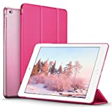 iPad Mini Case, iPad Mini 2 / Mini 3 Case, ESR® iPad Mini Smart Case Cover [Synthetic Leather] and Translucent Frosted Back Magnetic Cover with Sleep / Wake Function [Ultra Slim] [Light Weight] for Apple iPad Mini 1/2/3 (Violet Red)